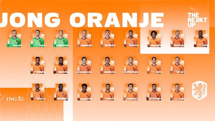 ek selectie jong oranje