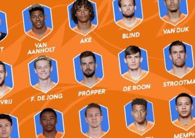 selectie oranje ek 2021