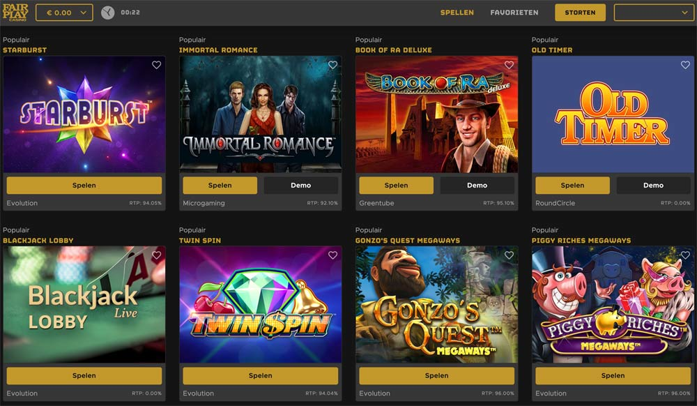 fair play online casino